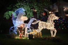 De Lichten van Kerstmis in Brooklyn Stock Afbeelding