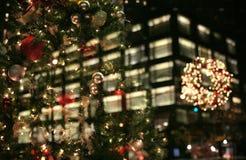 De lichten van Kerstmis in de stad Royalty-vrije Stock Afbeeldingen