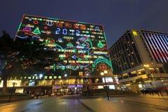De lichten van Kerstmis in Hongkong Royalty-vrije Stock Afbeeldingen