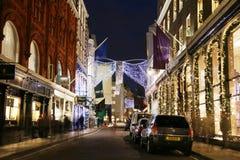 De Lichten van Kerstmis in Londen Royalty-vrije Stock Afbeeldingen