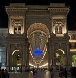 De lichten van Kerstmis in Milaan Stock Foto's