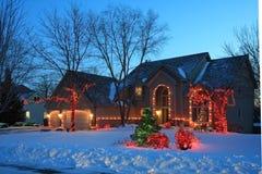 De lichten van Kerstmis in Minnesota Stock Afbeeldingen
