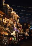 De Lichten van Kerstmis van Baltimore Stock Foto