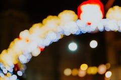 De Lichten van Kerstmis van Bokeh Royalty-vrije Stock Afbeeldingen