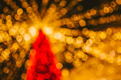 De Lichten van Kerstmis van Bokeh Stock Foto