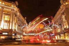 De lichten van Kerstmis van de Straat van Oxford Stock Foto's