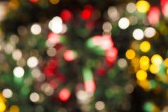 De lichten van Kerstmis van Defocused Stock Fotografie