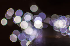 De lichten van Kerstmis van Defocused Stock Foto's