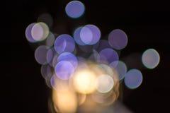 De lichten van Kerstmis van Defocused Stock Afbeeldingen