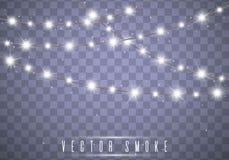 De Lichten van Kerstmis Vector stock foto