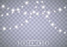 De Lichten van Kerstmis Vector royalty-vrije stock foto