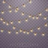 De Lichten van Kerstmis Vector vector illustratie