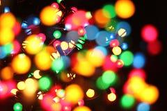 De Lichten van de Kerstmiskleur Royalty-vrije Stock Afbeeldingen