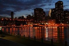 De lichten van Manhattan Royalty-vrije Stock Afbeeldingen