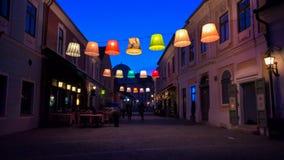De lichten van Nice stock foto