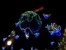 De Lichten van Osbornekerstmis bij Hollywood-Studio's, Orlando, FL Royalty-vrije Stock Afbeeldingen