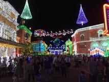 De Lichten van Osbornekerstmis bij Hollywood-Studio's, Orlando, FL Royalty-vrije Stock Fotografie