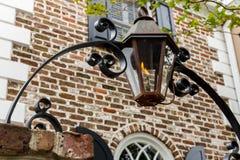 De Lichten van de de Overwelfde galerijportiek van de gaslantaarn Royalty-vrije Stock Afbeeldingen