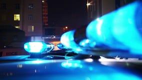 De lichten van de politienoodsituatie stock footage