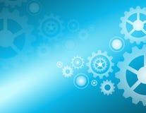 De lichten van radertjeswielen blauw vectorontwerp als achtergrond Stock Afbeeldingen