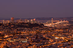 De lichten van San Francisco stock fotografie