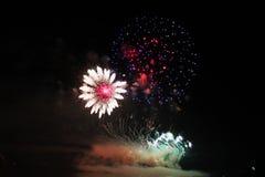 De lichten van vuurwerk Royalty-vrije Stock Afbeeldingen