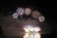 De lichten van vuurwerk Stock Foto's