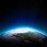 De lichten van Zuid-Amerika bij nacht Stock Foto's