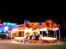 De Lichtenaantrekkelijkheden van de nachtstad Royalty-vrije Stock Foto's
