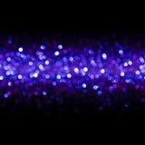 De lichtenachtergrond, vat Naadloos Onduidelijk beeld Lichte Bokeh, Blauwe Gloed samen Stock Afbeelding