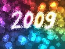 De lichteninschrijving 2009 van de vakantie vector illustratie
