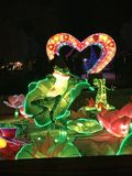 De lichtenkikker van China in liefde royalty-vrije stock afbeelding