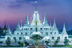 De lichtenpagode wat asokaram, Pagodetempel Thailand Stock Afbeeldingen