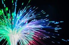 De lichtensamenvatting van de vezeloptica stock foto's