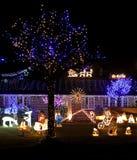 De lichtenvertoning van Kerstmis Stock Fotografie