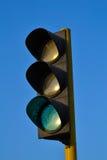 De lichtgroene kleur van het verkeer Stock Foto