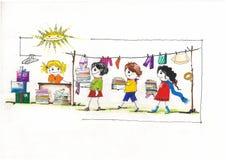De liefdadigheid van kinderendoeken Stock Foto's