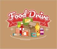 De liefdadigheidsbeweging van de voedselaandrijving, vectorillustratie Stock Fotografie