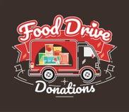 De liefdadigheidsbeweging van de voedselaandrijving, vectorillustratie Royalty-vrije Stock Afbeeldingen