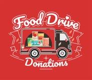 De liefdadigheidsbeweging van de voedselaandrijving, vectorillustratie Royalty-vrije Stock Afbeelding