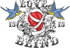De liefde is blind Stock Afbeelding