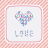 De liefde card1 van het driehoekspatroon Stock Afbeelding