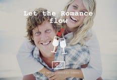 De liefde citeert het Romaanse Concept van de Valentijnskaartenwebsite royalty-vrije stock fotografie