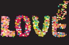 De liefde combineert van verscheidene harten Stock Fotografie