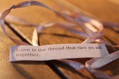 De liefde is de draad stock afbeeldingen