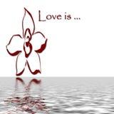 De liefde denkt na Royalty-vrije Stock Foto