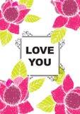 De liefde die u hebt gekaard Stock Foto