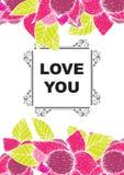 De liefde die u hebt gekaard vector illustratie