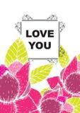 De liefde die u hebt gekaard stock illustratie