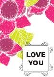 De liefde die u hebt gekaard Stock Fotografie